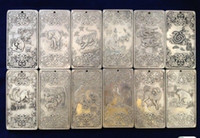 Wholesale Chinese Silver Statue - christmas decorations for home+ 12Pcs Old Chinese Twelve Zodiac Tibet Silver Bullion thangka statue amulet