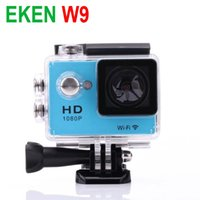 Wholesale Wireless Lcd Dvr - EKEN W9 Sport DV Cameras Wifi Action Camera Wireless Video Recorder 2.0 inch 1080P 170 Wide Angle Car DVR 30M Waterproof