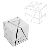 Wholesale Mp3 Music Speaker Cube - NEW Portable Magic Cube LED Bluetooth Speaker Wireless Deep Bass Subwoofer For Phone MP3 Computer Music Xiaomi Loudspeaker