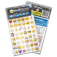 Wholesale Smiley Paper Diary - Free DHL Emoji Sticker Pack 912 Die Cut Stickers For Diary Phone Instagram Twitter Vinyl Notebook smiley icons images of emoticons 19 Pcs