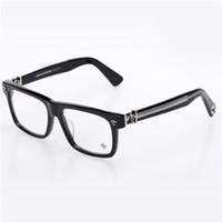 kadın için optik çerçeve toptan satış-Marka-2017 Krom Kutusu öğle-bir Oculos De Grau miyopi Gözlük Miyopi Çerçeve Erkekler Gözlük Kadın Gözlük Japonya Marka Optik Çerçeve