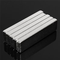 Wholesale Magnet Rectangle - 10pcs 40 x10 x 4mm N52 Block Magnet Rare Earth Neodymium Permanent Magnets Rectangle Bar Fridge 40mm x10mm x 4mm Magnet