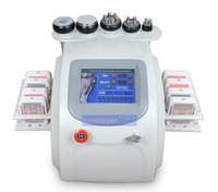 Wholesale tripolar skin - 6 in 1 portable 40KHZ cavitation 1MHZ RF tripolar RF vacuum skin rejuveantion machine