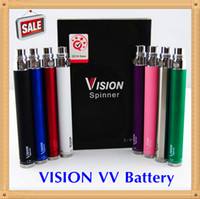 Retail Pack Vision Spinner battery ego c twist 3.3-4.8V Variable Voltage VV 510 Thread 650 900 1100 1300mAh spinners batteries