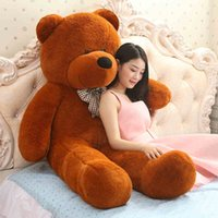 Wholesale Huge Stuffed Teddy Bears - Wholesale- 160cm Big Giant teddy bear huge plush toys kids big stuffed soft toy animals baby dolls for girls Children large doll gift
