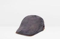 erkekler için şemsiyeler toptan satış-Yeni varış Rahat Erkek Kadın Ördek Gagası Ivy Kap Golf Sürüş Güneş Düz Cabbie Newsboy Bere casquette Şapka