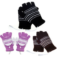 Wholesale Cheap Warm Gloves - 5V USB Powered Heating Heated Winter Hand Warmer Gloves Washable Cheap