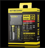 Wholesale I2 Charger - Authentic Nitecore I2 Universal Intelligent charger Charger for lg hg2 18650 14500 16340 26650 Battery Multi Function Charger US UK EU plug