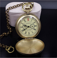 Wholesale High Fashion Pocket Watches - Fashion Pocket Watches Gold Dial Mechanical Automatic Watch High Quality Alloy Case For Hot Selling Christmas Gift