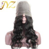 Wholesale Virgin Frontals - Pre Plucked 360 Lace Frontal Closure Lace Frontals With Baby Hair Natural Hairline Peruvian Body Wave 360 Lace Virgin Hair