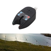 nueva alarma de mordedura de pescado al por mayor-Al por mayor-Accesorios de pesca Nuevo 2 LED Luz Pez mordedura Sonido Alerta Alarma Campana Electrónica Para caña de pescar Ajuste