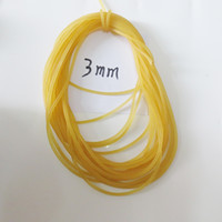 Wholesale good quality fish - freeshping diameter 2mm 3MM 4MM Lost rope for fish good quality rubber band rope 1:6
