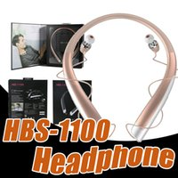 Wholesale Color Iphone Headphones - HBS1100 Bluetooth Wireless HeadPhone 200mAH CSR4.1 Neckband Sport Headset Handsfree Mic HBS 1100 Earphone For iPhone LG with Package