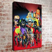 lona da pintura a óleo para a cozinha venda por atacado-(Sem moldura) DC super-heróis HD Canvas Art Pintura A Óleo Da Arte Pictures Home Decor Quarto sala de estar cozinha Decoração