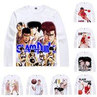 Wholesale Cosplay Slam Dunk - Anime Shirt Basketball SLAM DUNK T-Shirts Multi-style Long Sleeve Hanamichi Sakuragi Kaede Rukawa Cosplay Motivs Kawaii Shirts