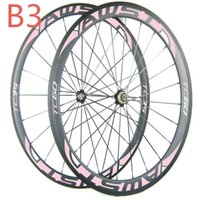 Wholesale Green Clincher - 1 year warranty cheap carbon bike wheels front 38mm rear 60mm full carbon bicycle wheels green decal 3k clincher wheelset free shipping
