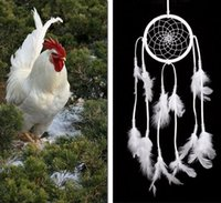 Wholesale Wind Netting - Hot Handmade Indian Dream Catcher Net with Feathers Wind Chimes Wall Hanging Dreamcatcher Craft Gift