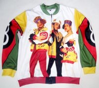 Wholesale Usa 3d - 4 Styles Real USA Size Salt N Pepa 8 Ball 3D Sublimation Print custom made zipper up Jacket plus size