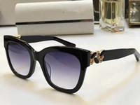 Wholesale shiny black stone - MAGGIE Fashion Luxury Brand Designer Sunglasses Shiny Chip Plate Charm Frame Top Quality UV Protection Lens Mirror With Diamond Stone