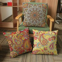Wholesale Decorative Bohemian Pillows - Square Decorative Pillowcase Design Throw Pillow Case Printing Decoration Cushion Cover Square Pillowcase Bohemian Style Simple Patterns
