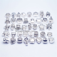 Wholesale Silver Necklace Designs Price - Hot Sale 40pcs lot lowest price 40 Designs bag Shamballa Bead Bracelet Necklace Beads Rhinestone DIY spacer