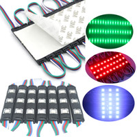 Wholesale 3led Ip65 - SMD5050 Led Module Light 3LED Black RGB Injection LED Modules with Lens DC12V Waterproof IP65 Module Light