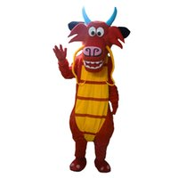 Wholesale Character Mascot Costumes For Sale - High quality Mushu dragon mascot costumes for sale Alfalfa dragon mascot Costume Character Costume dragon Free Shipping