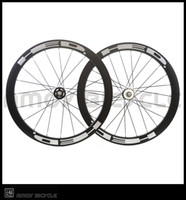 Wholesale Carbon Track Wheels Clinchers - Free shipping track bike 50mm Clincher Carbon wheels with HED painting fixed gear wheels 700C wheelset fixie bike