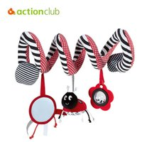 Wholesale baby toy mirrors - Wholesale- Actionclub Baby Toy Educational Toys For Kids Newborn Mobile Baby Rattles Bed Car Around Bell Safety Mirror Infant Rattle