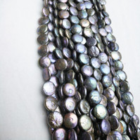 Wholesale manufacturing coins resale online - Zhuji Hoem Decoration mm Semi manufacture Perfect Freshwater Natural Coin Shape Pearl Strand Beautiful Gifts