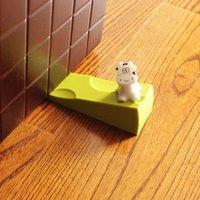Wholesale Wedge Furniture - Hot Selling Door Stop Cheese Shape Door Wedge Windproof Doorstop Furniture Protector Door Buffer Holder Green Pink JC0429