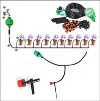 Wholesale Drip Automatic Irrigation - 25m DIY Micro Drip Irrigation System Plant Automatic Self Watering Garden Hose Kits with Timer Adjustable Dripper for home plant