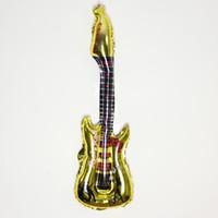 balon gemisi toptan satış-Sıcak satış! Yeni 50 adet / grup toptan Gitar Tezahürat sopa, şişme oyuncaklar, 83 CM X 30 CM Parti balon ücretsiz kargo