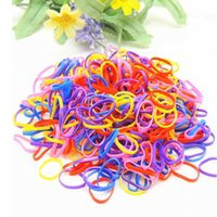 Vente en gros - 300pcs Rubber Hairband Rope Ponytail Holder Elastic Hair Band Ties Braids Tricots Summer Style