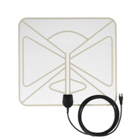 Wholesale Flat HD TV Digital Indoor Antenna HDTV High Gain Miles Range ATSC DVB ISDB with ft High Performance Coax Cable V2672