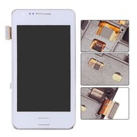 Wholesale S2 Screen Replacement - White For Samsung Galaxy S2 i9100 LCD Display Touch Screen Digitizer Full Assembly Replacements Free Shipping+Tracking No