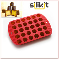 Wholesale Mini Cupcakes Silicone - High Quality Silicone Rubber Standards 30 Mini Flowers Canneles Bakeware Diy Cake Mold Cupcake Baking
