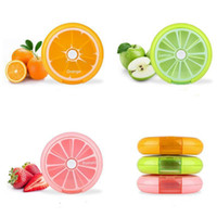 Cute Candy Color Round Outdoor Travel Pill Cases Portátil 7-Day Rotating Medicine Box Tablet Dispenser pill box 6 Estilo