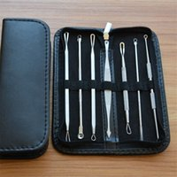 Wholesale Needle Making - 7Pcs set Blackhead Remover Tools Kits Pimple Blemish Extractor Acne Remover Tool Set Make Up Beauty Tool Kit Black Head Whitehead Needle
