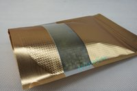 Wholesale Powdered Aluminium - 15x22cm 100pcs lot X Stand up matte gold aluminium foil embossing ziplock bag with window-mylar charcoal powder pouch, pigment sack