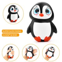 Wholesale Cute New Doll - New Arrival Jumbo Squishy Cute Penguin Kawaii Animal Slow Rising Sweet Scented Vent Charms Bread Cake Kid Toy Doll Gift Fun