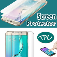 Wholesale Edge Protectors For Shipping - Curved Full Cover Clear Soft TPU Screen Protector Anti-scratch Film For iPhone 7 Plus 6 6S Samsung S7 S6 Edge Plus C5 C7 Free Shipping