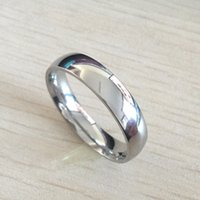 Wholesale Men Wedding Rings Real - Classic male Real 18k white Gold Plated 6mm Titanium Steel Women Men Wedding Ring Top Quality Do not fade Lovers Wedding Jewelry
