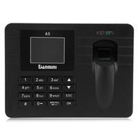 Wholesale Usb Fingerprint Attendance - Original DANMINI A5 2.4 inch TFT Fingerprint Time Clock Recorder Attendance Support USB Download for Company School