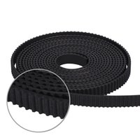 Wholesale 3d printer pulley - 10meter Black Rubber GT2-6mm open timing belt width 6mm GT2 belt For 3D Printer GT2 Pulley