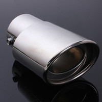 Wholesale Muffler Tail - New Arrival Stainless Steel Car Tail Rear Chrome Round Exhaust Muffler Pipe Tip AUP_524