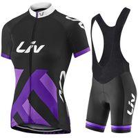 Wholesale Womens White Lycra Cycling Shorts - 2017 Liv Team Women's Cycling Jerseys Set, Summer Cycling Clothing Womens Bicycle Clothing Bike Clothes Bike Jersey+ Bib Shorts. 2 Colors !