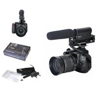 Wholesale Dslr Handheld - DV Stereo Recording Video Camcorder Handheld Camera Shotgun Interviews Microphone Conference Condenser Mic for Nikon Canon DSLR