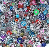 Wholesale Round Rhinestone Buttons 12mm - 12MM 18MM High quality Assorted styles Metal Snap Button Charm Rhinestone Styles Button rivca Snaps Jewelry NOOSA chunk Silver Plated