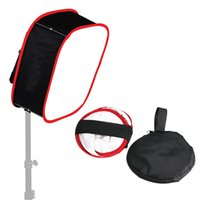 Wholesale Led Lights Panel Video - New LED Light Panel Softbox: Collapsible, Diffuser Foldable Portable w  Strap Attachment for Studio Photography Camera Video